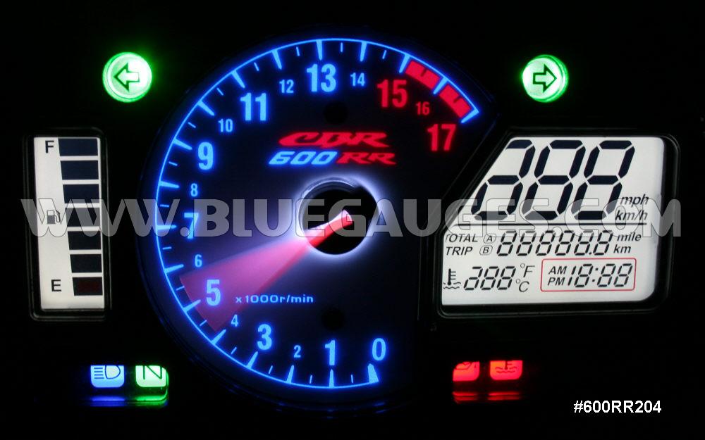 Honda Cbr600rr Gauge Backlighting Bluegauges Com